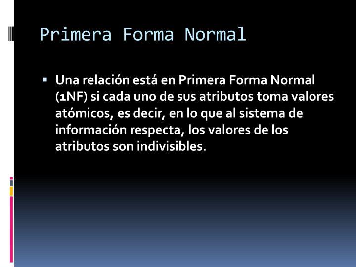 Primera Forma Normal
