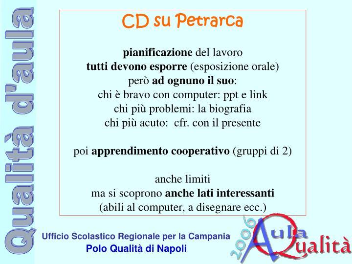 CD su Petrarca