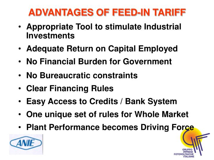 Appropriate Tool to stimulate Industrial Investments