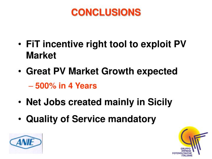FiT incentive right tool to exploit PV Market