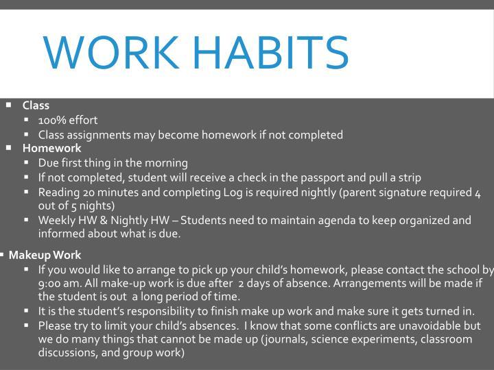 Work Habits