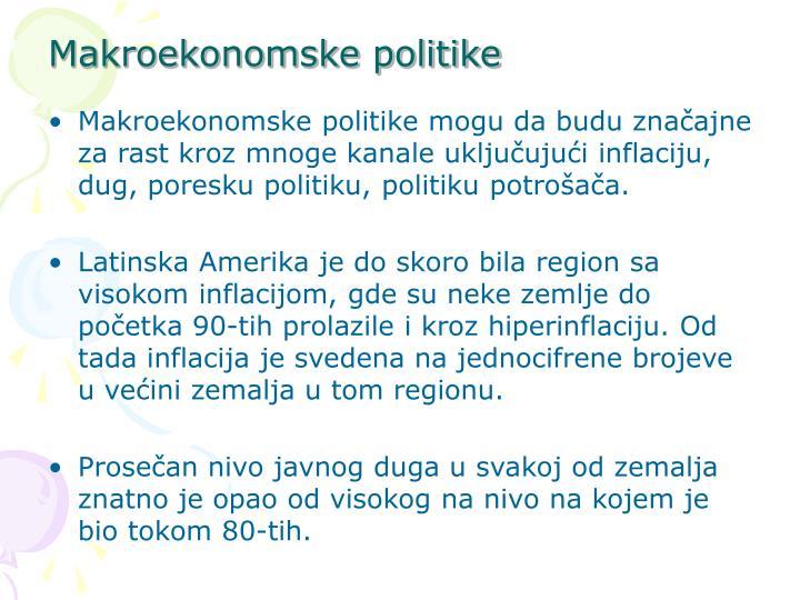 Makroekonomske politike