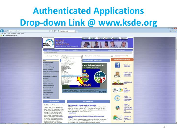 Authenticated Applications