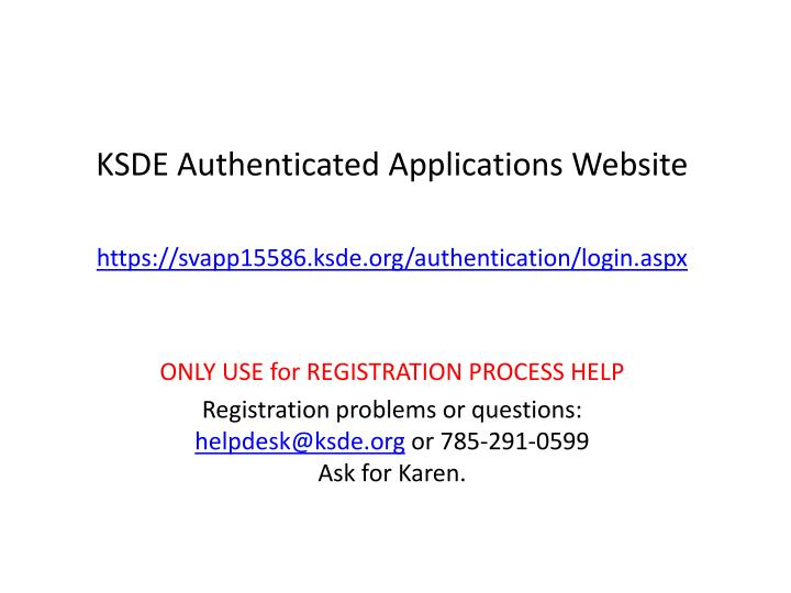 KSDE Authenticated