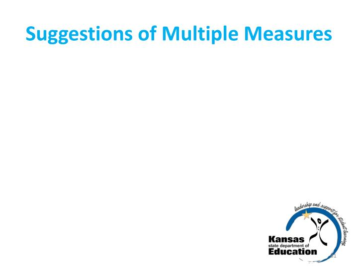 Suggestions of Multiple Measures