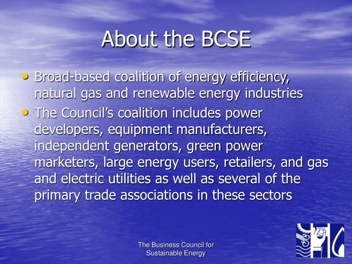 About the bcse