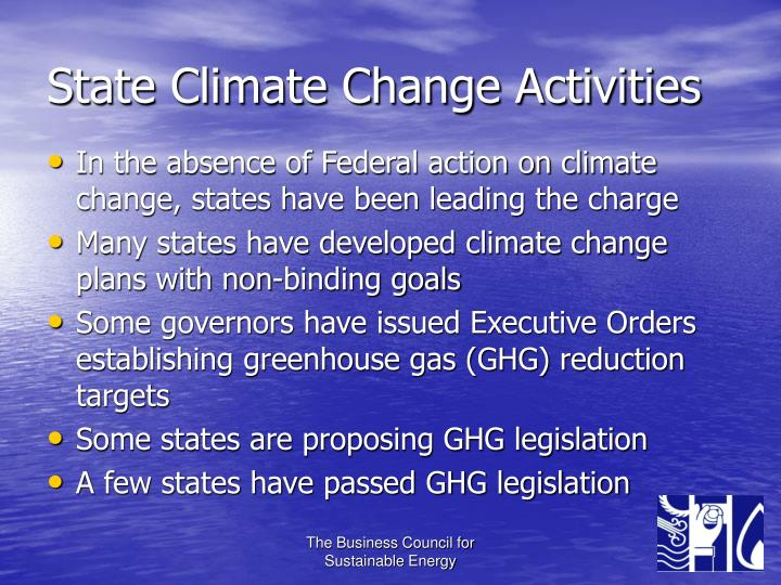 State Climate Change Activities