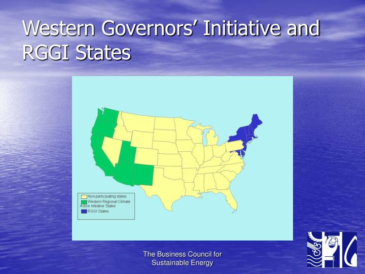 Western Governors' Initiative and RGGI States