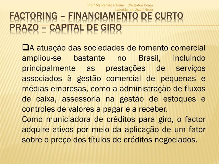 Factoring financiamento de curto prazo capital de giro1