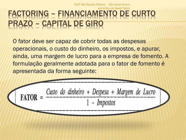 Factoring financiamento de curto prazo capital de giro2