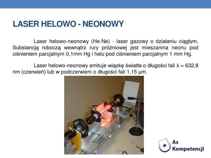 Laser helowo - neonowy