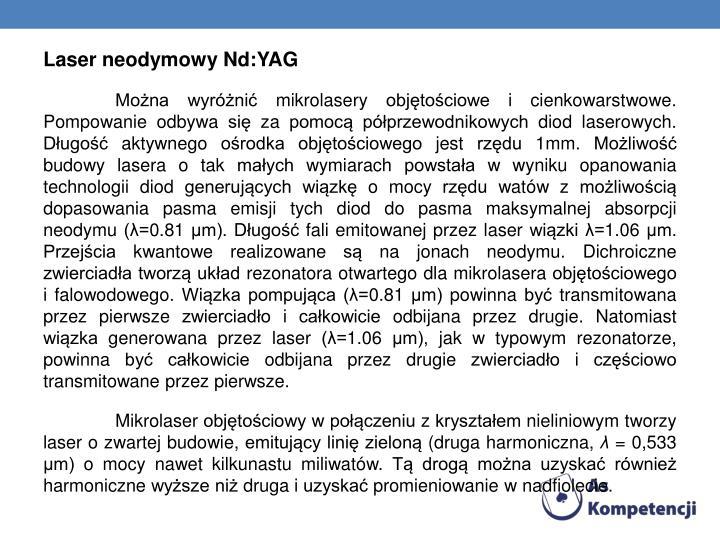 Laser neodymowy Nd:YAG