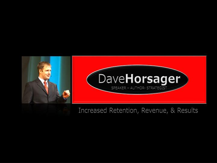 Dave horsager speaker author strategist