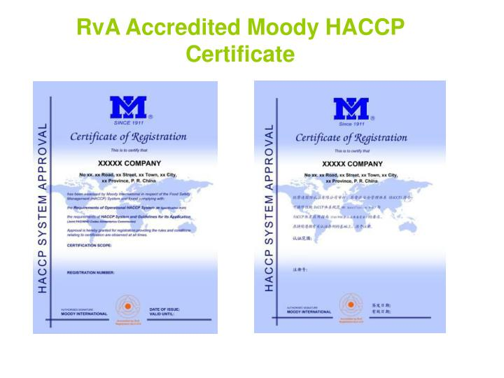 RvA Accredited