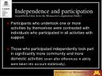 independence and participation unpublished data from the minnesota longitudinal study