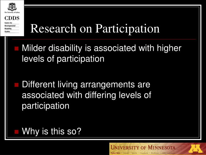Research on Participation