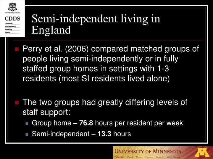 Semi-independent living in England