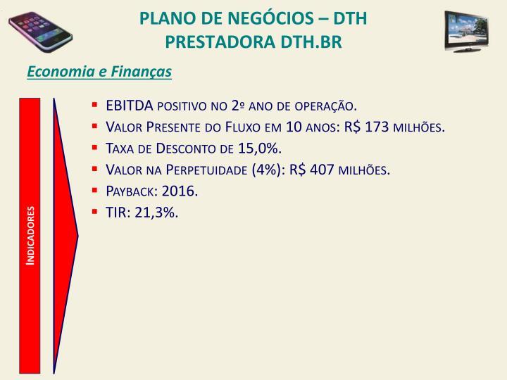 PLANO DE NEGÓCIOS – DTH PRESTADORA DTH.BR