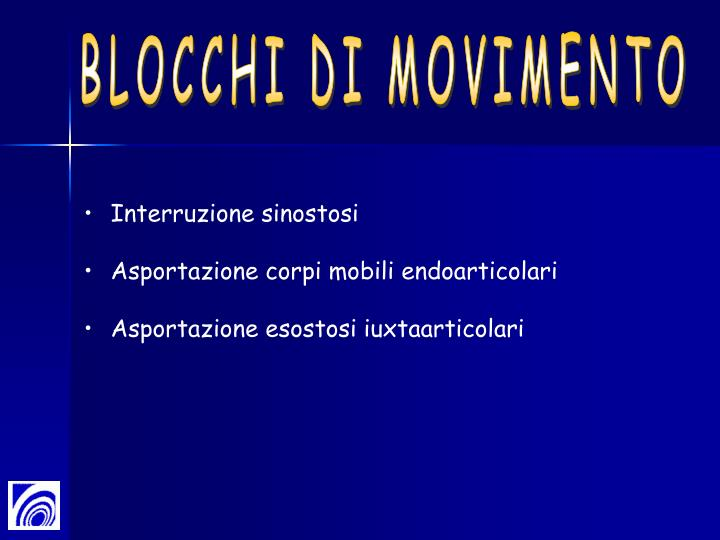 BLOCCHI DI MOVIMENTO
