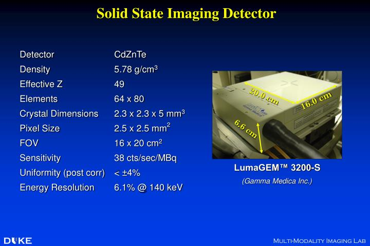 Solid state imaging detector