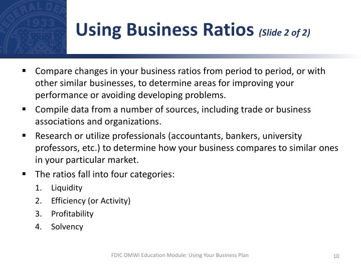Using Business Ratios