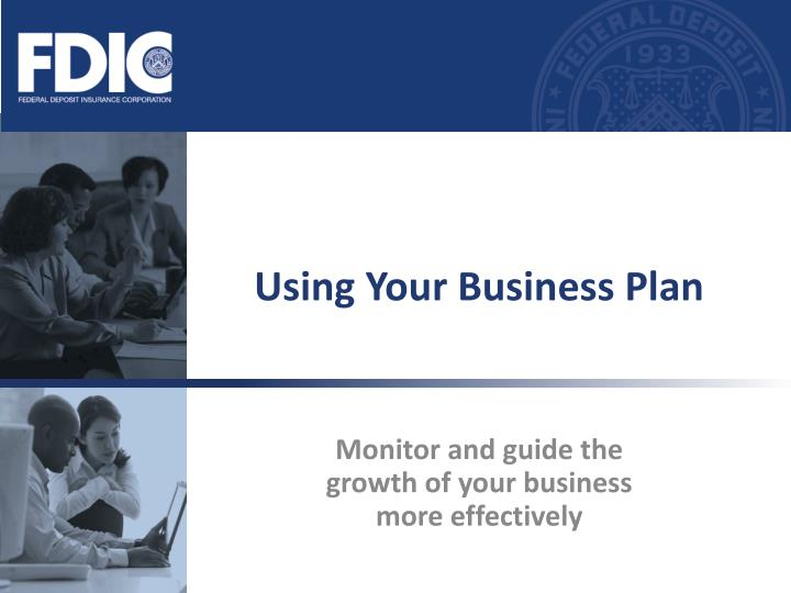 Using your business plan