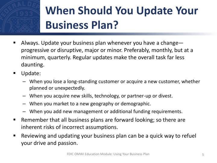When Should You Update Your Business Plan?