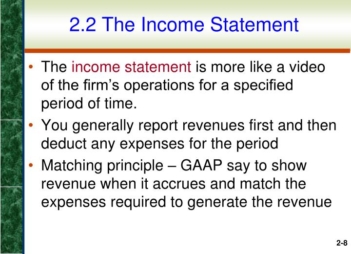 2.2 The Income Statement