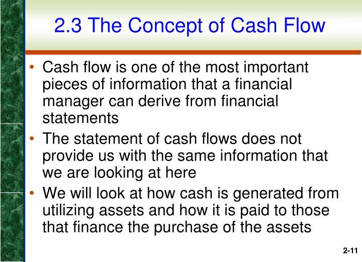 2.3 The Concept of Cash Flow