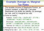 example average vs marginal tax rates