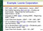 example loonie corporation