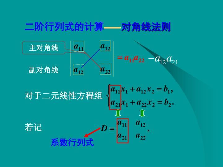 二阶行列式的计算
