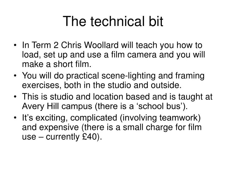 The technical bit