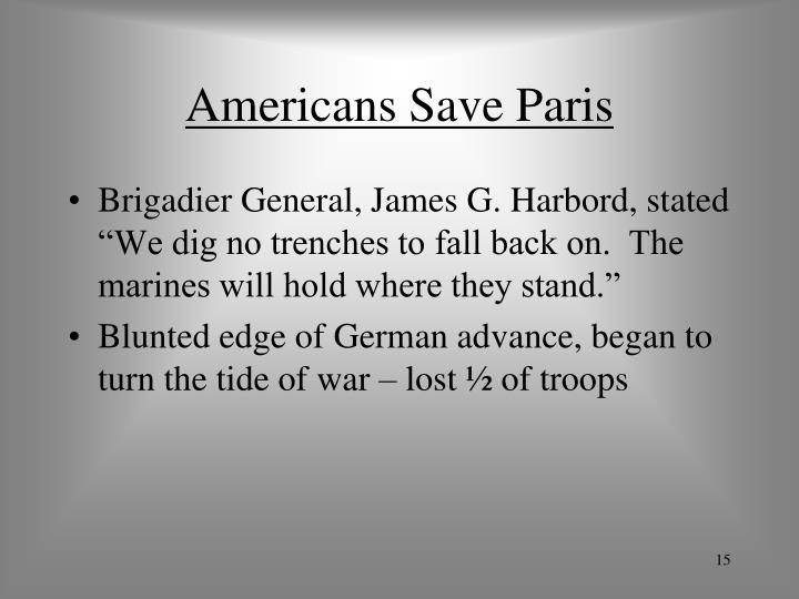 Americans Save Paris