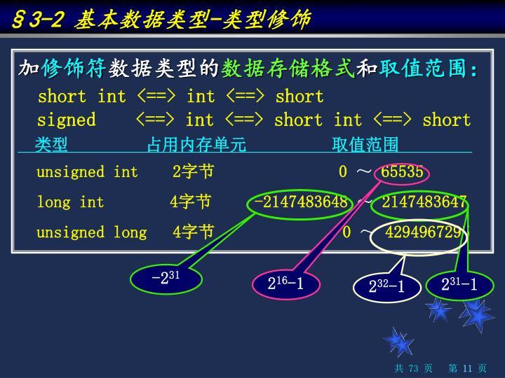 §3-2 基本数据类型-类型修饰