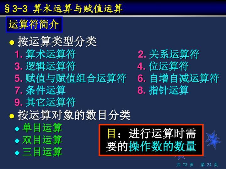 §3-3 算术运算与赋值运算
