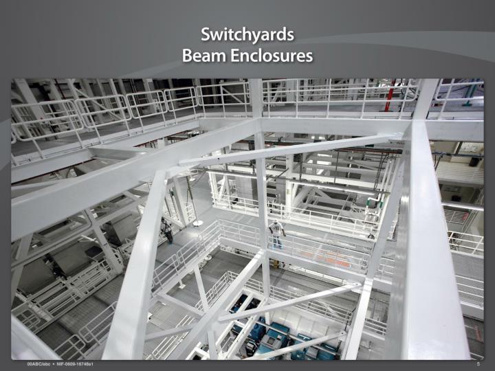 Switchyards – Beam Enclosure