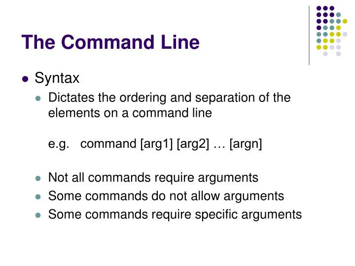 The Command Line