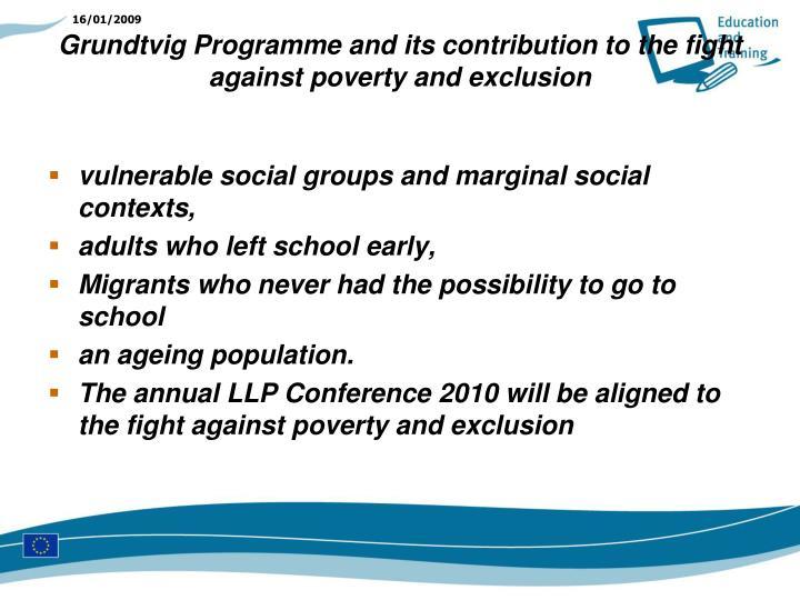 vulnerable social groups and marginal social contexts,