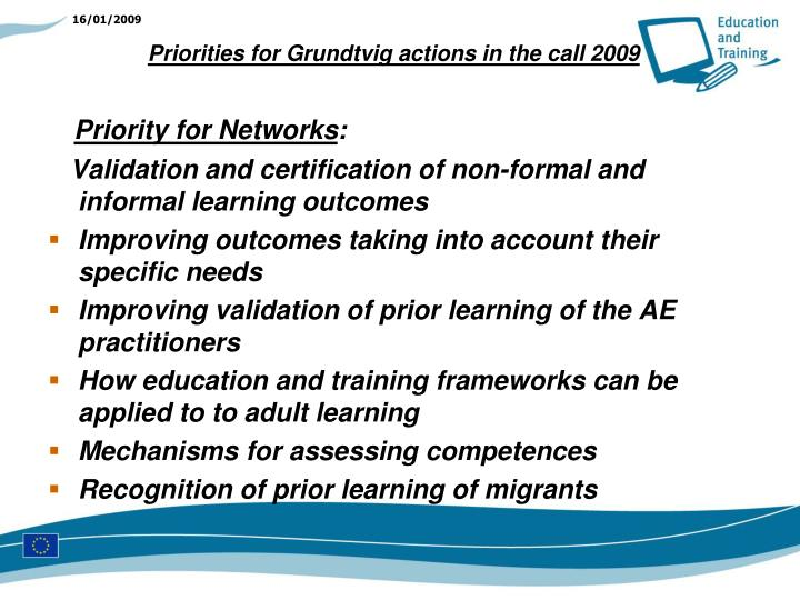 Priority for Networks