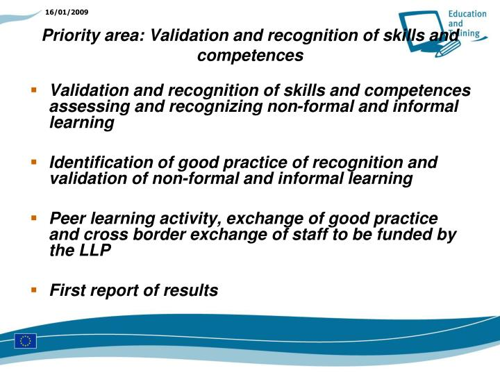 Validation and recognition of skills and competences