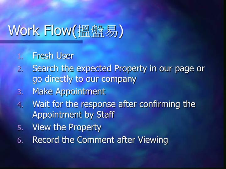 Work Flow(