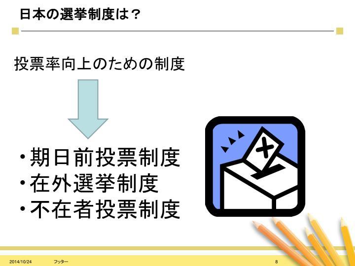 日本の選挙制度は?