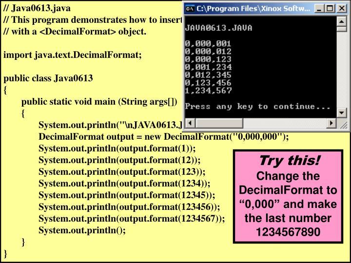 // Java0613.java