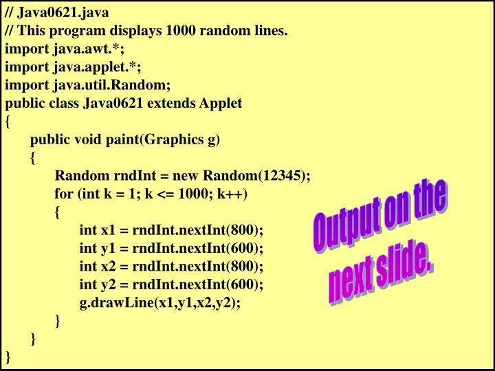 // Java0621.java