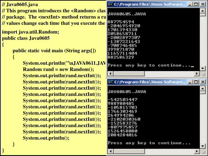 // Java0605.java