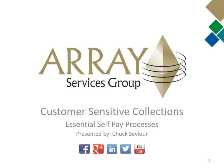 Customer sensitive collections essential self pay processes presented by chuck seviour