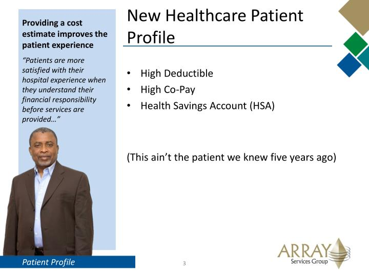 New healthcare patient profile
