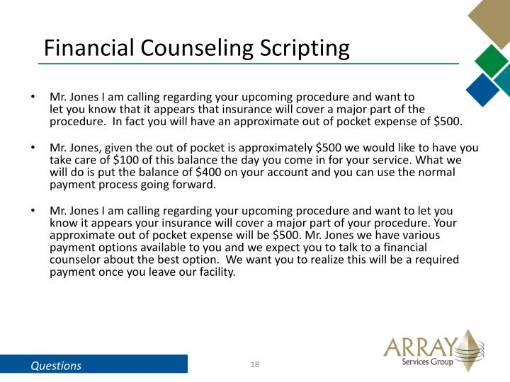 Financial Counseling Scripting