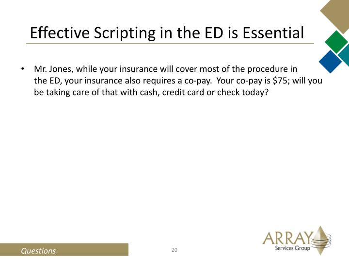 Effective Scripting in the ED is Essential